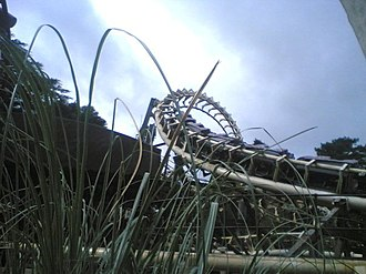 Corkscrew (Alton Towers) - View of Corkscrew from ground level