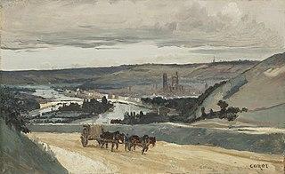 Panoramic View of Rouen