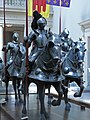 Corps of Armored Knights greet visitors to the Metropolitan Museum of Art's armor exhibit (6) (855191870).jpg
