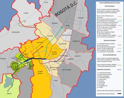 Corredor De Transporte Bogota Soacha Wikipedia La Enciclopedia Libre