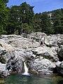 Corsica - Cascade des Anglais - Andrea & Huba above the cascade - panoramio.jpg