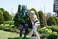 Cosplayer of EVA Unit 01 and Rei Ayanami 20140525.jpg