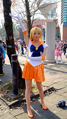 Cosplayer of Sailor Venus, Sailormoon at CWT42 20160213.jpg