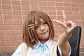 Cosplayer of Yui Hirasawa, K-On! at FF19 20120204c.jpg