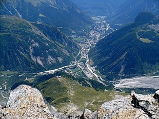 """Courmayeur from <a href=""""http://search.lycos.com/web/?_z=0&q=%22Refuge%20Torino%22"""">Rifugio Torino</a> in August 2009"""