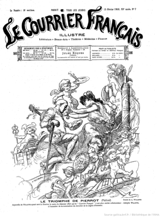 Le Courrier français (1884–1914) - Cover of 15 February 1906