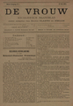 Cover of the first edition of De Vrouw from 15 July 1893.png