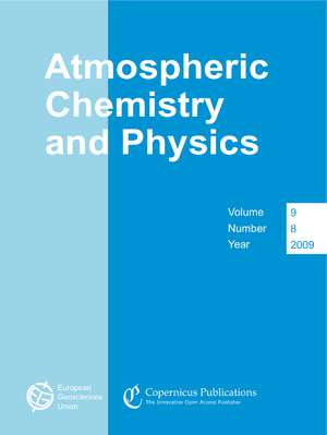 Atmospheric Chemistry and Physics - Image: Cover of the journal Atmospheric Chemistry and Physics