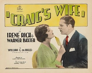 <i>Craigs Wife</i> (1928 film) 1928 film