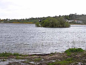 Castlefore Lough - Image: Crannog at the eastern end of Castlefore Lough geograph.org.uk 1306829