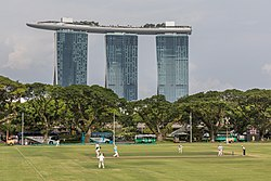 Cricket match and Marina Bay Sands Hotel in Singapore.jpg