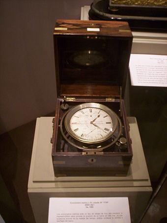 Cronómetro marino J. R. Losada, 1850-1860.
