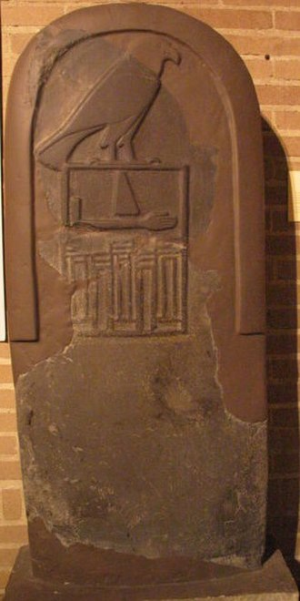 Qa'a - Restored tomb stele of Qa'a