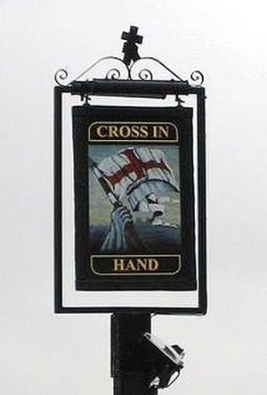 Cross In Hand - Image: Cross In Hand Sign cropped