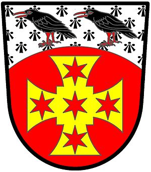 Quadrate (heraldry) - Image: Cross paty quadrate wiki