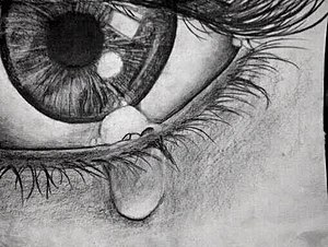 "Oppression - ""crying eye"" (pencil drawing)"