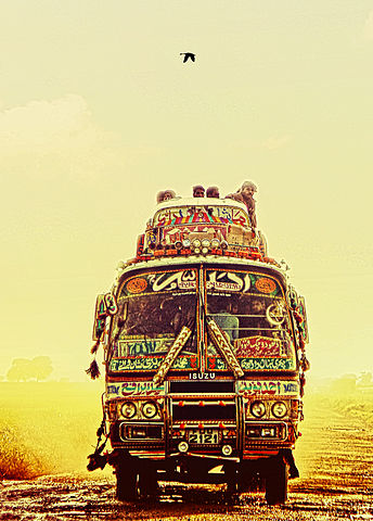 Truck art is a distinctive feature of Pakistani culture.