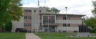 Cuming County, Nebraska - Image: Cuming County Courthouse (Nebraska) from W 1
