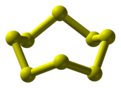 Ball and stick model of octathiocane