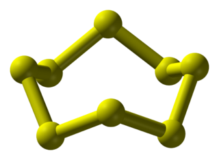 Octasulfur most common allotrope of sulfur