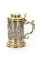 Cylindrisk kanna med kupig fot och förgyllt handtag med karyatid - Skoklosters slott - 91917.tif