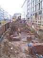 Düsseldorf, Ausgrabung Kasernenstraße Ecke Benrather Straße, Februar 2012 (4).jpg