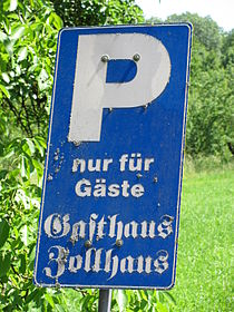 D-BW-Kressbronn aB - Parking Sign Zollhaus.JPG