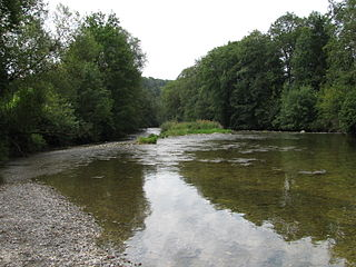 Untere Argen River in Germany