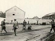Poprava příslušníků SS v koncentračním táboře Dachau