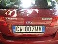 Daewoo Lacetti Targa automobilistica Italia 1999 CW•007 WV posteriore.jpg