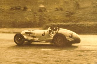 Mercedes-Benz W125 - Manfred Von Brauchitsch driving the W125 at the 1937 Donington Grand Prix