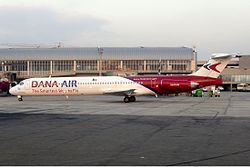 MD-83 der Dana Air