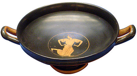 A kylix drinking cup was used to serve Greek wine.