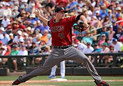 Daniel Hudson jako zawodnik Arizona Diamondbacks.