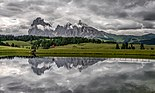 Dark and gloomy atmosphere at Alpe di Siusi in italian Dolomites.jpg