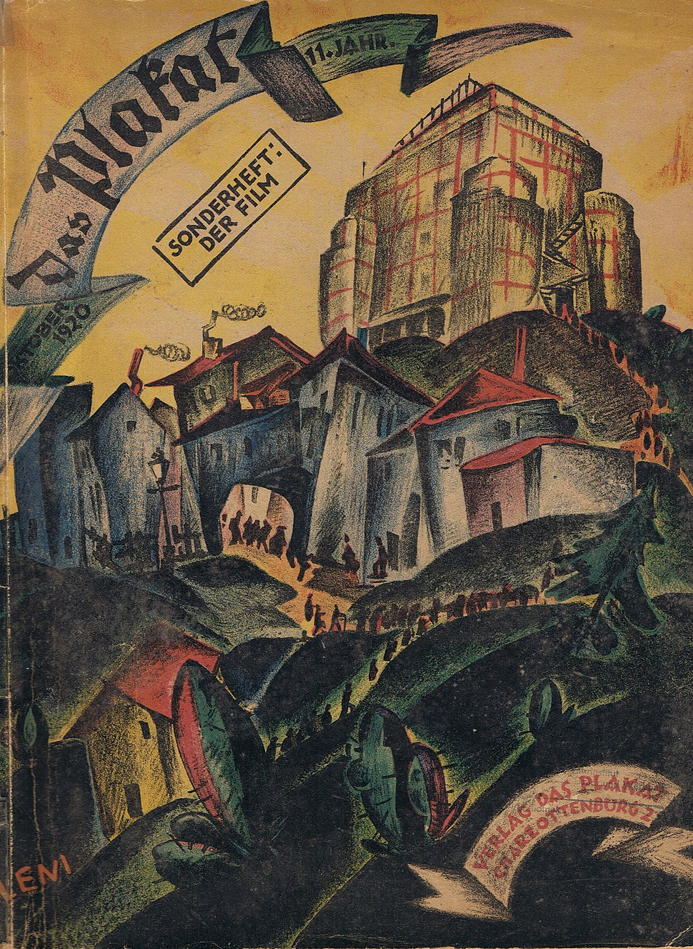 Das Plakat Sonderheft Der Film 1920 Titel
