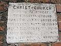 Date stone at Christ Church, Newgate - geograph.org.uk - 886956.jpg