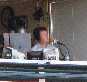 Dave Flemming - Dave Flemming calls a San Francisco Giants game on April 10, 2013.