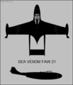 De Havilland Sea Venom FAW.21 two-view silhouette.png