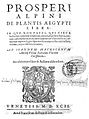 De plantis Aegypti liber, title page Wellcome L0002829.jpg