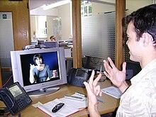Una comunicazione mediata dal videofono