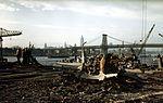 Debris on flight deck of USS Franklin (CV-13) in April 1945.jpg