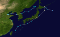 December 2014 Japan bomb cyclones track.png