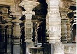 Decorated Pillars in Chennakeshava Temple at Belur
