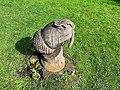 Decorative wood-carving of an acorn in Ornamental Park, Grange Over Sands.jpg