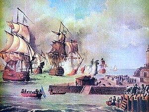 Defensa de Cartagena de Indias por la escuadra de D. Blas de Lezo, año 1741