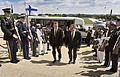 Defense.gov News Photo 120510-D-NI589-058 - Secretary of Defense Leon E. Panetta right escorts Finland s Minister of Defense Stefan Wallin through an honor cordon as he arrives at the.jpg