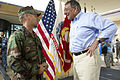 Defense.gov News Photo 120531-D-BW835-391 - Secretary of Defense Leon E. Panetta speaks with Navy Cmdr. Jared East during a visit to the United States Pacific Command at Camp H.M. Smith.jpg