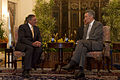 Defense.gov News Photo 120602-D-BW835-645 - Secretary of Defense Leon E. Panetta meets with Singapore s Prime Minister Lee Hsien Loong in Singapore June 2 2012. Panetta is attending the.jpg