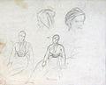 Dehodencq A. - Pencil - Etude de personnages - 25x20.5cm.jpg